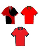 Set of Polo Shirts! Royalty Free Stock Image