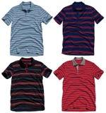 Set of polo shirts isolated on white background Royalty Free Stock Photo