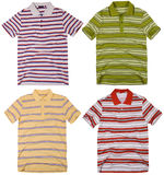 Set of polo shirts isolated on white background Royalty Free Stock Photos