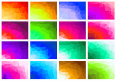 Set polygon abstract Royalty Free Stock Photos