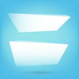 Set of polygon shape blank banner with copy space vector illustr Stock Image