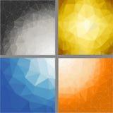 SET polygonal backgrounds Royalty Free Stock Photography