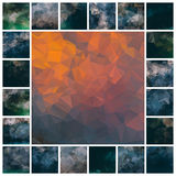 Set polygonal backgrounds. Vector set of dark polygonal backgrounds Stock Images