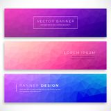 Set polygonal banners stock illustration