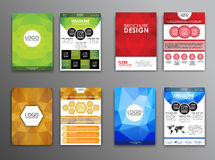 Set polygonal brochures and flyers Stock Photography
