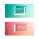Set of polygonal colorful background banners poster booklet for modern design, youth graphic concept.  Stock Photo