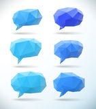 Set of polygonal geometric speech bubble Stock Photography