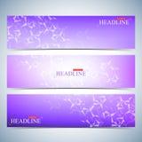 Set of polygonal horizontal backgrounds. Modern page website design template. Vector Illustration Royalty Free Stock Image