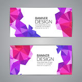 Set of polygonal triangular colorful background banners poster booklet for modern design, youth graphic concept.  Stock Photography