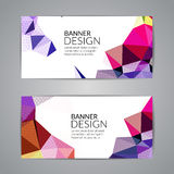 Set of polygonal triangular colorful background banners poster booklet for modern design, youth graphic concept Stock Image