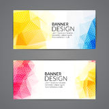 Set of polygonal triangular colorful background banners poster booklet for modern design, youth graphic concept.  Royalty Free Stock Photos