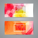 Set of polygonal triangular colorful background banners poster booklet for modern design, youth graphic concept Royalty Free Stock Image