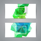 Set of polygonal triangular colorful background banners poster booklet for modern design, youth graphic concept.  Stock Images