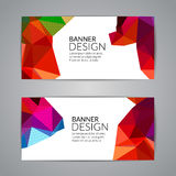 Set of polygonal triangular colorful background banners poster booklet for modern design, youth graphic concept.  Royalty Free Stock Photo