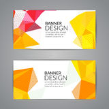 Set of polygonal triangular colorful background banners poster booklet for modern design, youth graphic concept.  Royalty Free Stock Image