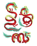 Set of PolygonalChinese Dragons Vector. Stock Photography