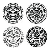 Set of polynesian tattoo Royalty Free Stock Photos