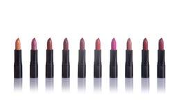 Set pomadki w modnych kolorach Fotografia Royalty Free