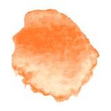 Set pomarańczowa farba, atrament, grunge, brudni muśnięć uderzenia Obraz Stock
