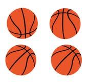 Set Pomarańczowe koszykówki Fotografia Stock