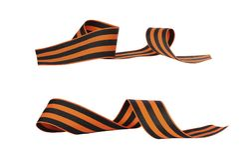 Set Pomarańczowy i czarny pasiasty tasiemkowy symbol Maj 9 i 23 Luty Zdjęcie Stock
