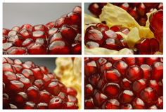 Set of pomegranate. Close up set of juicy pomegranate Royalty Free Stock Photo