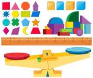 Set pomiar skala ilustracji