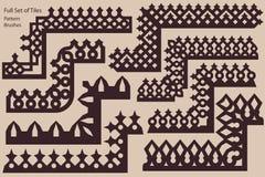 Set poncza antyka granicy stosowni rosyjscy ornamenty Obraz Royalty Free