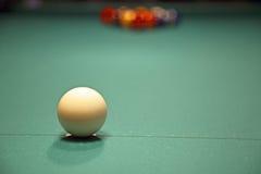 Set of pool balls. Ready to start the game royalty free stock photos