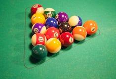 Set of pool balls Royalty Free Stock Photos