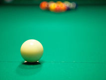 Set of pool balls. Ready to start the game stock image