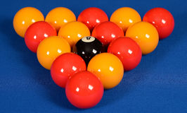 Set of pool balls Stock Photo