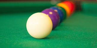 Set of pool balls. Ready to start the game royalty free stock images