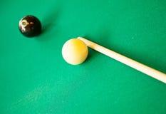 Set of pool balls. Ready to start the game royalty free stock photo