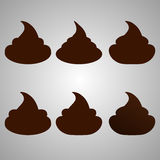 Set of poop. Isolated abstract icons Royalty Free Stock Photo