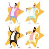 Set of Pop singers Stock Images
