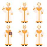 Set of Popes Royalty Free Stock Photos