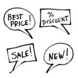 Set of popular slogans, increase sales. Royalty Free Stock Image