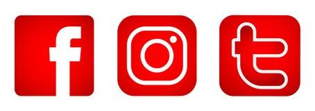 Set Of Popular Social Media Logos Icons In Orange Gold ...