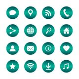 Set of popular web icons. Vector circle buttons with basic icons. Isolated background. Set of popular web icons. Vector eps10 circle buttons with basic icons Stock Photos