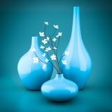 Set of porcelain vases Stock Photos