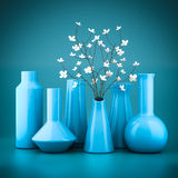 Set of porcelain vases Royalty Free Stock Photo