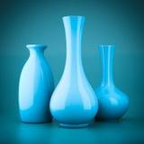 Set of porcelain vases Stock Photography