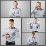 Set portrait of young businessman Stock Images