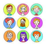 Set portrety różni ludzie Zdjęcie Stock