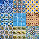 Set of Portuguese Tiles Stock Photography