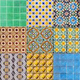 Set of Portuguese Tiles Stock Photo