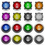 POS terminal button set. Set of POS terminal glossy web buttons. Arranged layer structure Royalty Free Stock Images