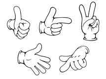 Set of positive hands gestures Royalty Free Stock Photos
