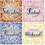 Set of Positive Lettering compositions Stock Photo